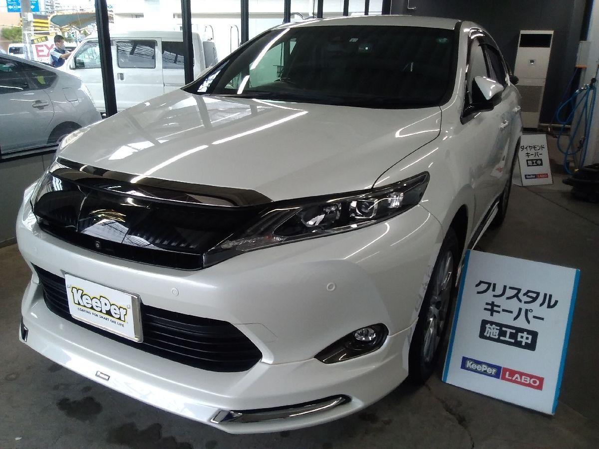 トヨタ ハリアーにクリスタルキーパー 根占 悠麻(箕面店)
