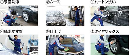 純水手洗い洗車