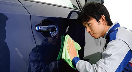 純水手洗い洗車施工イメージ